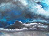 painting titled Dynamic Clouds